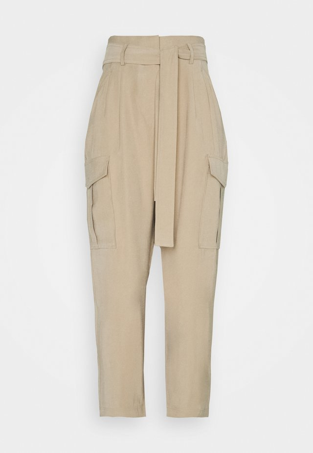 NABILA - Cargo trousers - camel