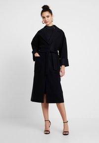 EDITED - SANTO COAT - Classic coat - black - 0