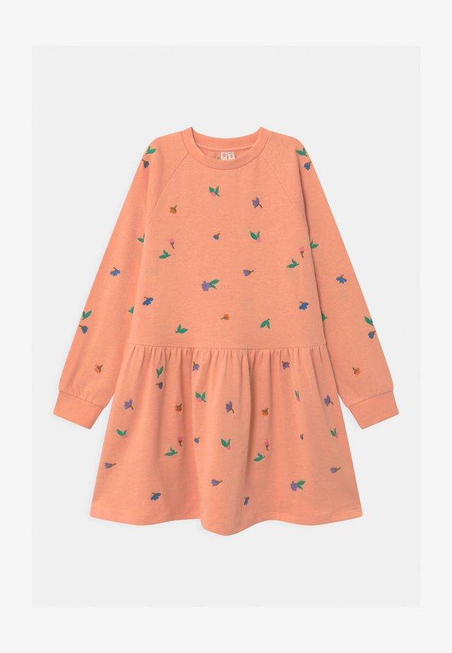 Day dress - orange dusty light