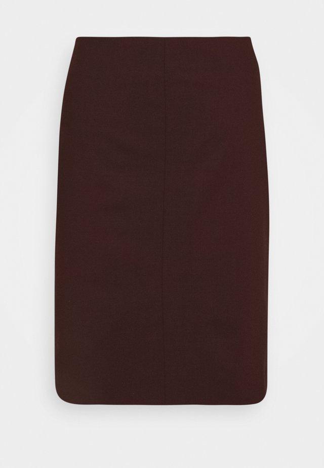 VIOLINA - Pouzdrová sukně - red art