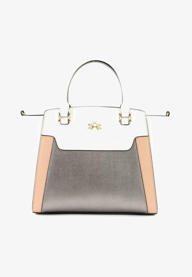 Handbag - blanc / silver / camrose
