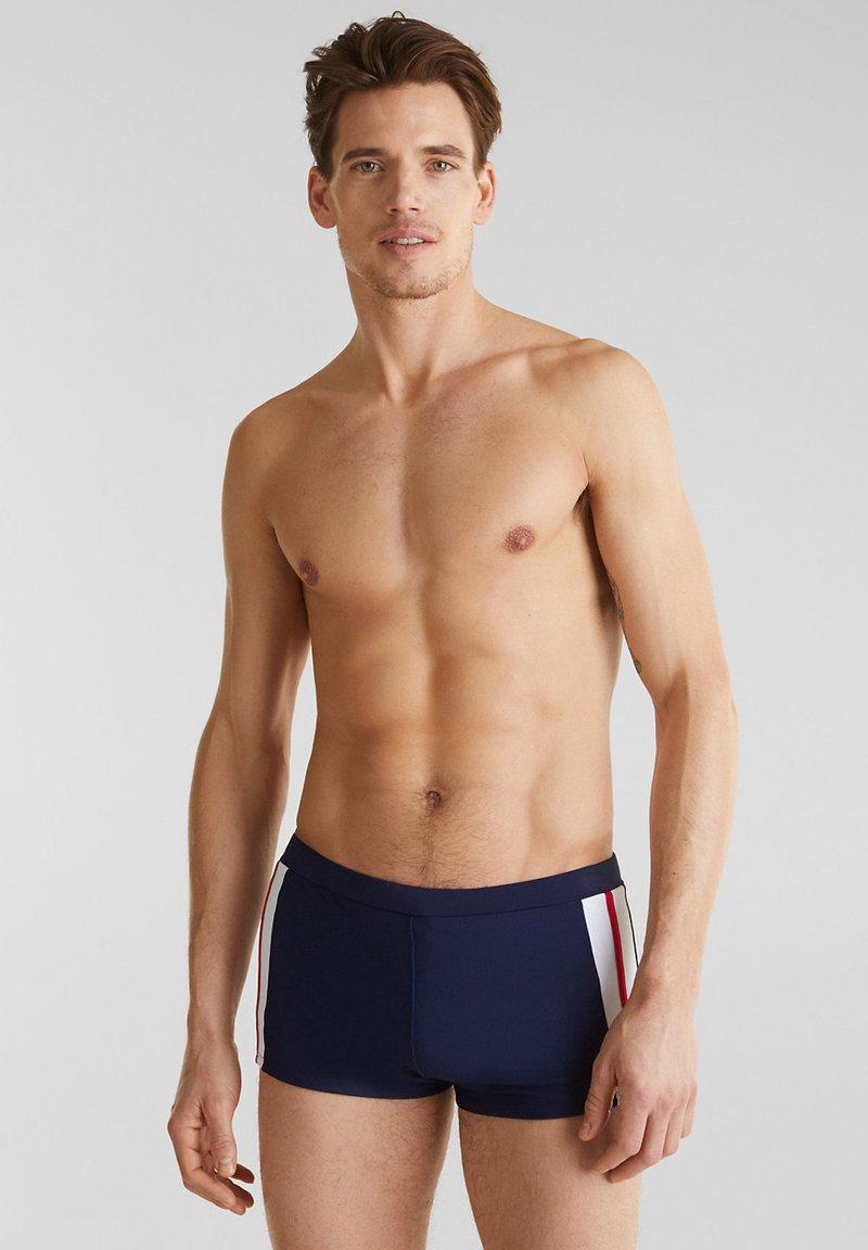 Esprit - MIT STREIFEN - Swimming trunks - dark blue