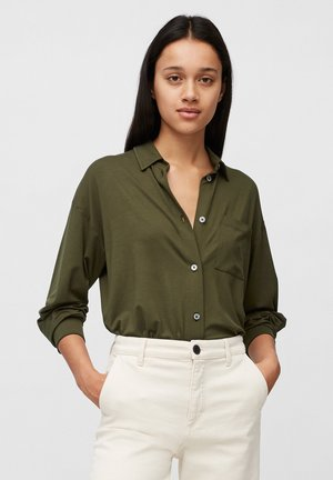 LONG SLEEVE WIDE - Button-down blouse - native olive