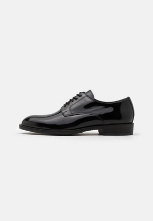 SLHLOUIS DERBY SHOE - Zapatos con cordones - black