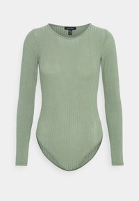 New Look - SOFT CREW NECK BODY - Long sleeved top - light green - 4
