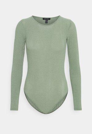 SOFT CREW NECK BODY - Top sdlouhým rukávem - light green