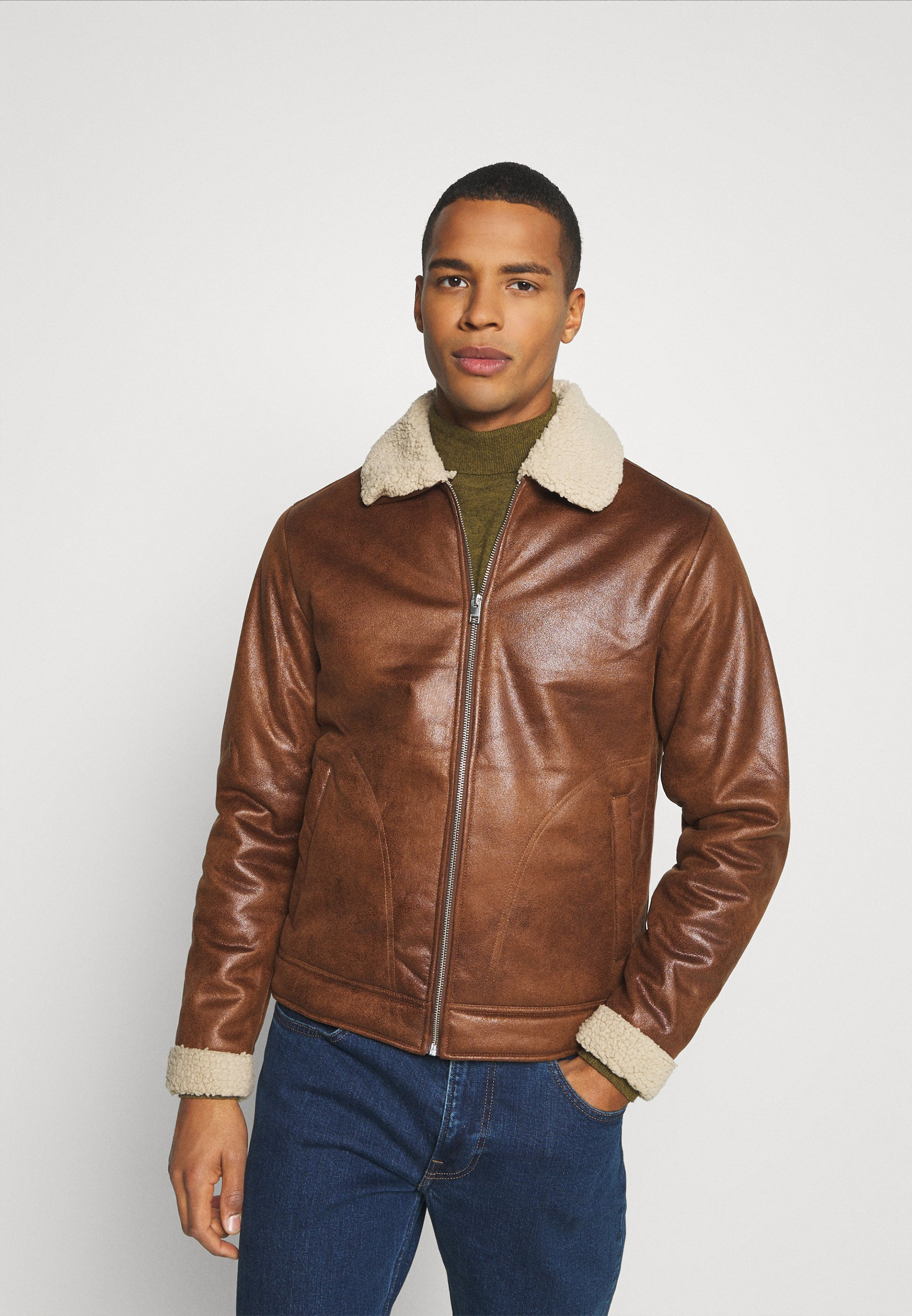 Uomo JJFLIGHT JACKET - Giacca in similpelle