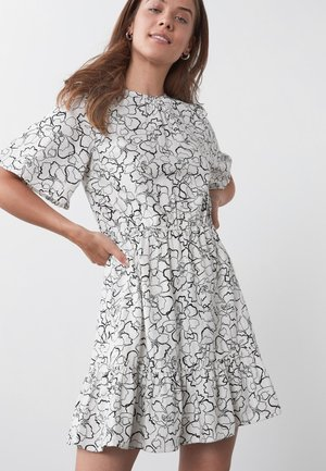 BLEND RUFFLE  - Day dress - white