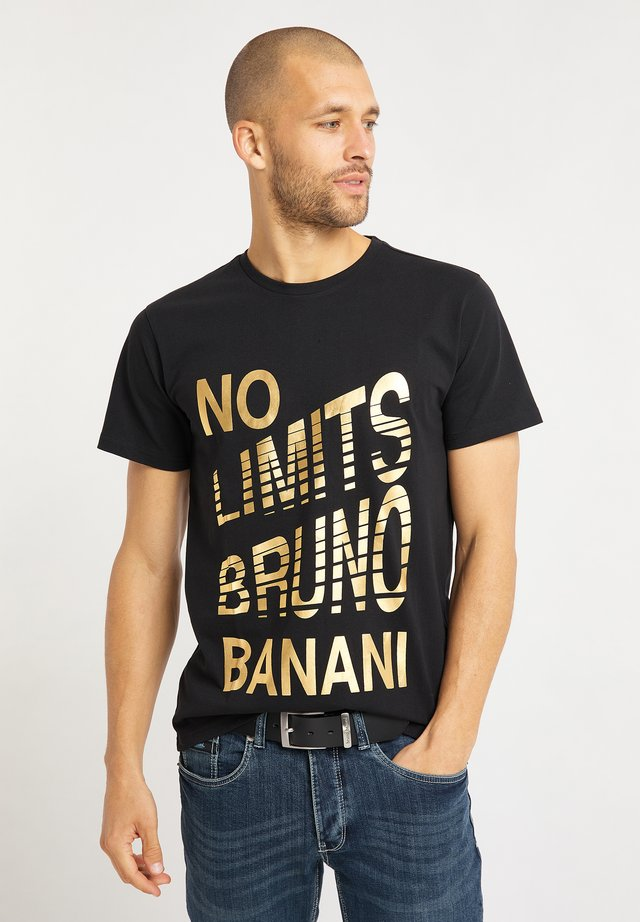 T-shirt med print - schwarz