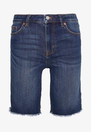 LINA BERMUDA - Shorts di jeans - dark blue denim