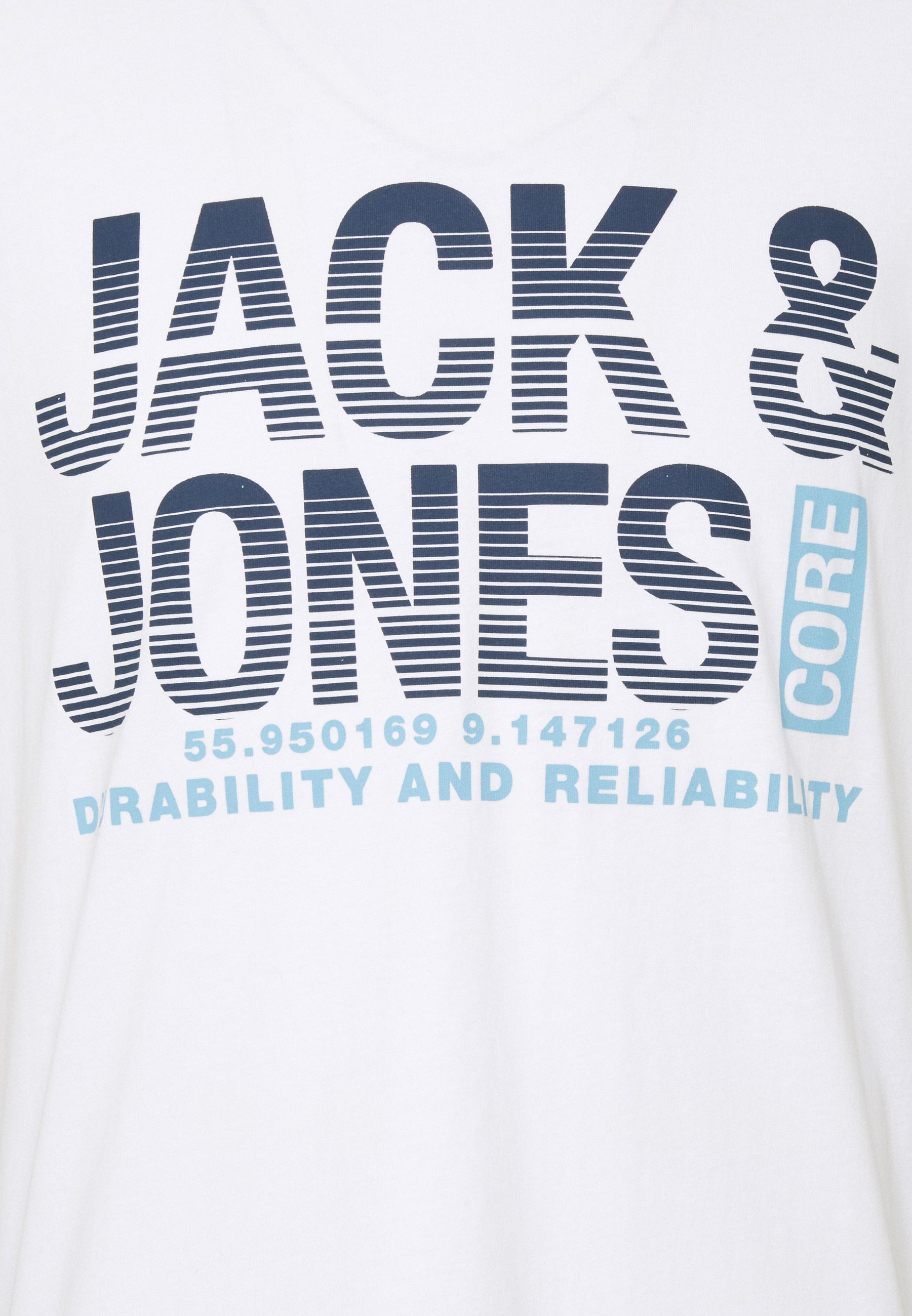 Jack & Jones JCOROPE TEE CREW NECK - Print T-shirt - white hq7Tw