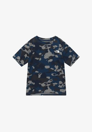 BOY'S REAXION 2.0 TEE - Print T-shirt - blue-grey/grey