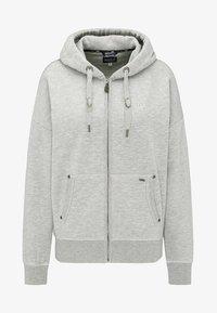 Zip-up hoodie - light gray melange