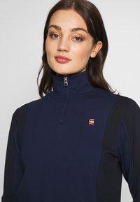 G-Star - NOSTELLE BIKER HALFZIP - Zip-up hoodie - servant blue/mazarine blue - 4