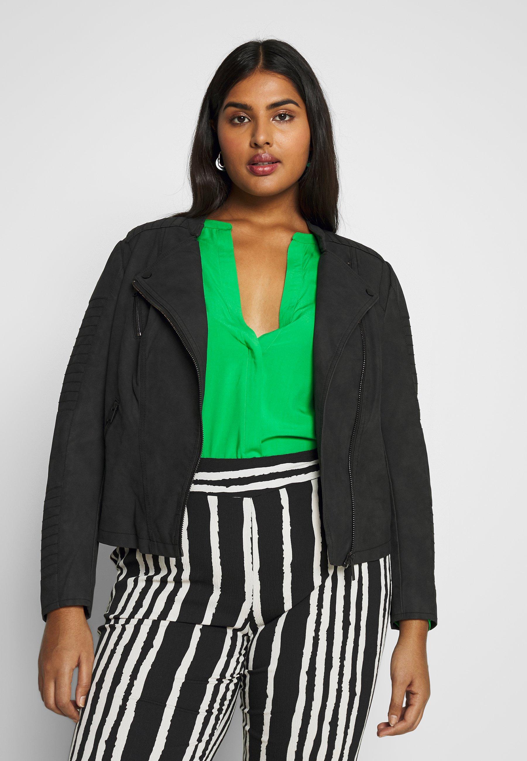 Women CARAVANA BIKER - Faux leather jacket