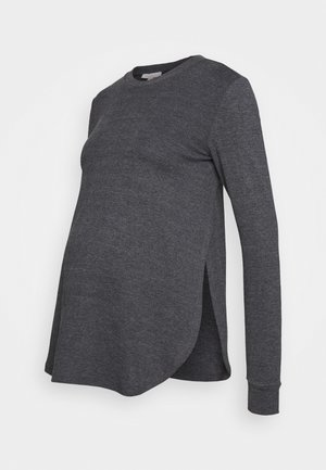 Long sleeved top - anthracite melange