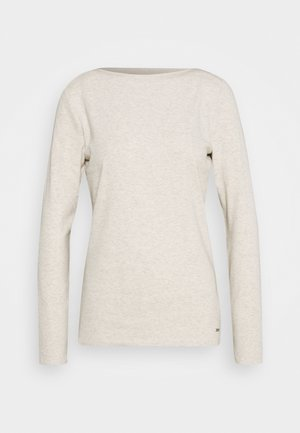 BOAT NECK BASIC LONGSLEEVE - Long sleeved top - creme beige melange
