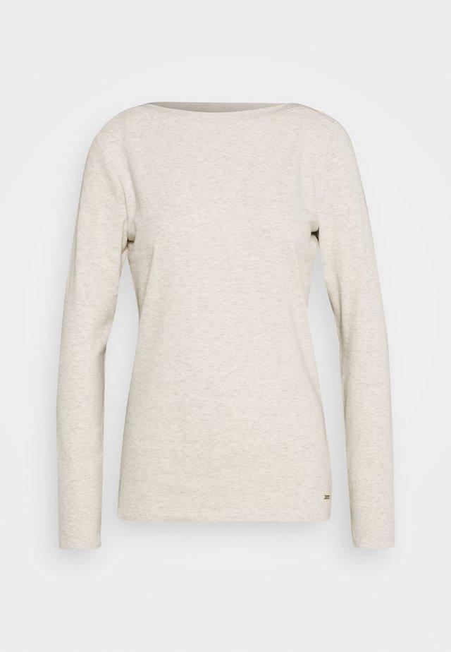 BOAT NECK BASIC LONGSLEEVE - Camiseta de manga larga - creme beige melange