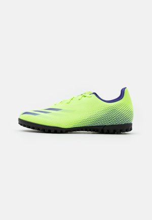 X GHOSTED.4 FOOTBALL BOOTS TURF - Astro turf trainers - signal green/energy ink
