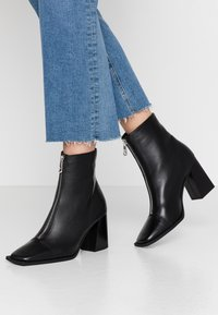 Topshop - HEIDI ZIP BOOT - High heeled ankle boots - black - 0