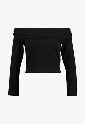 LONG SLEEVE BARDOT - Long sleeved top - schwarz