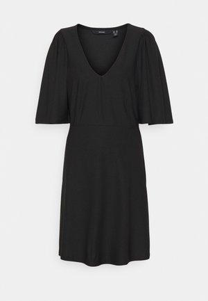 VMODETTA 2/4 SHORT DRESS TALL - Vestito di maglina - black
