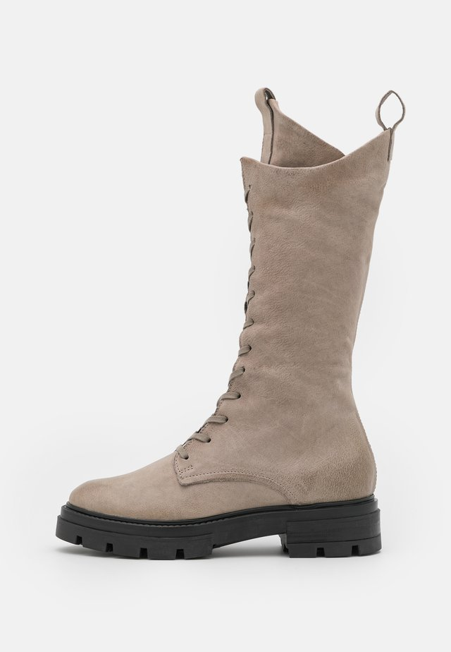 Lace-up boots - opale