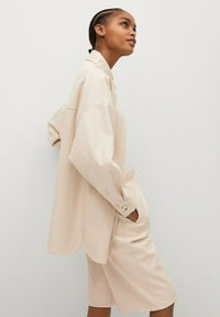 Mango - TRAVELER - Faux leather jacket - écru - 3