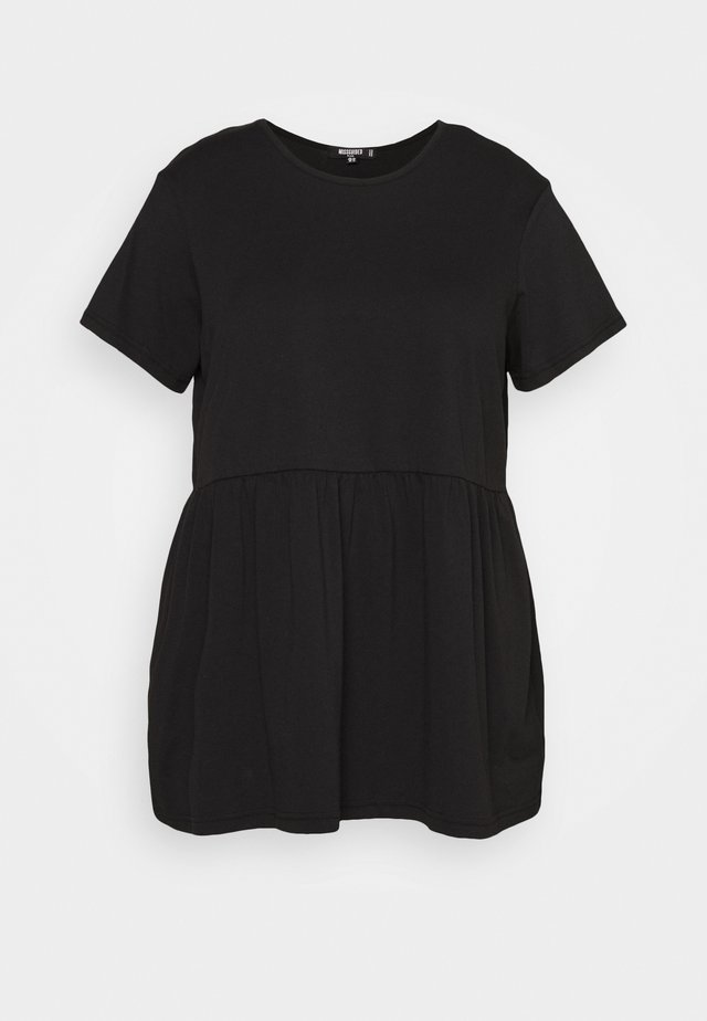 PLUS SMOCK - T-shirt con stampa - black