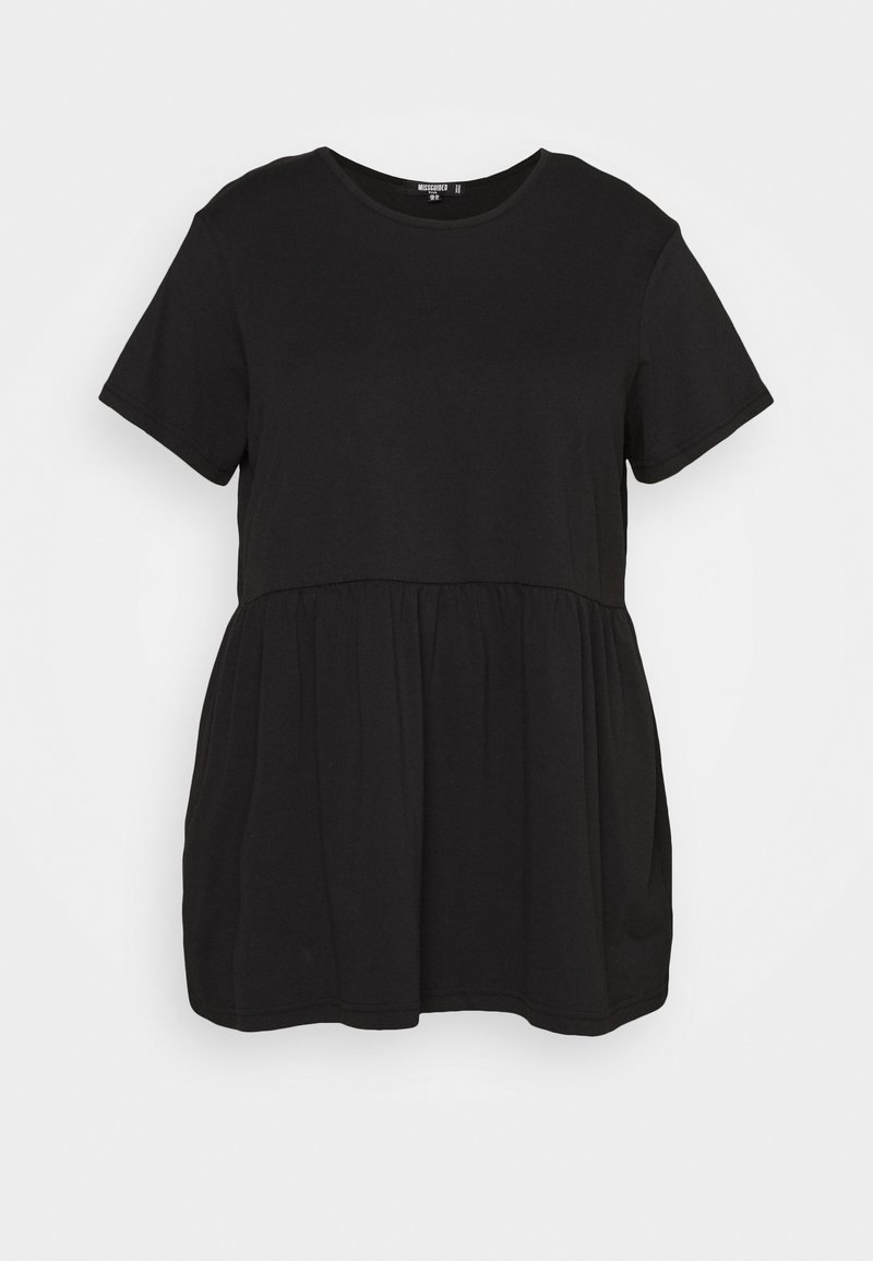Missguided Plus - PLUS SMOCK - T-shirt con stampa - black