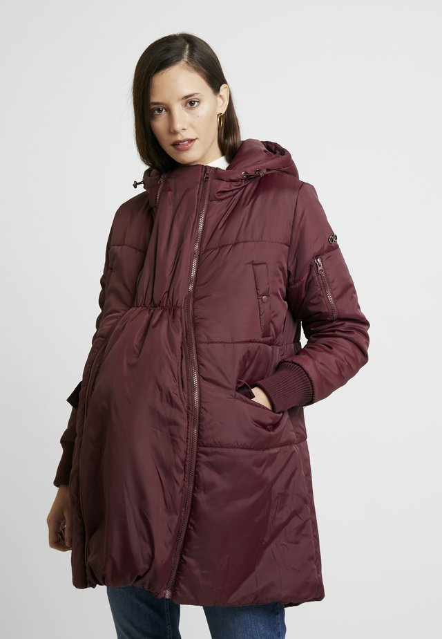 FAITH 3-IN-1 THIGH BOMBER PUFFER COAT - Abrigo de invierno - burgandy