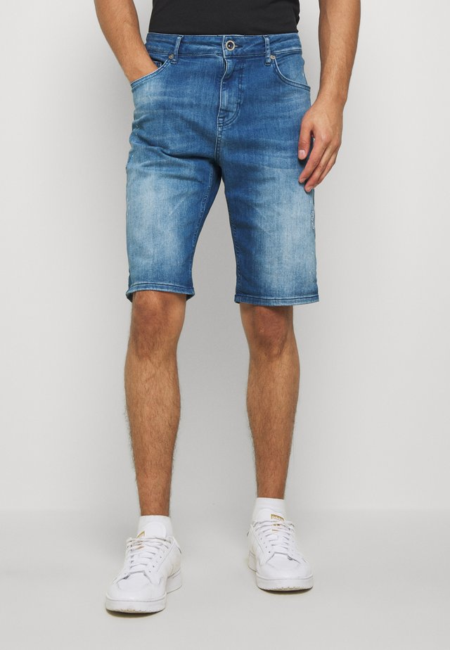 BARIS  - Denim shorts - stone used
