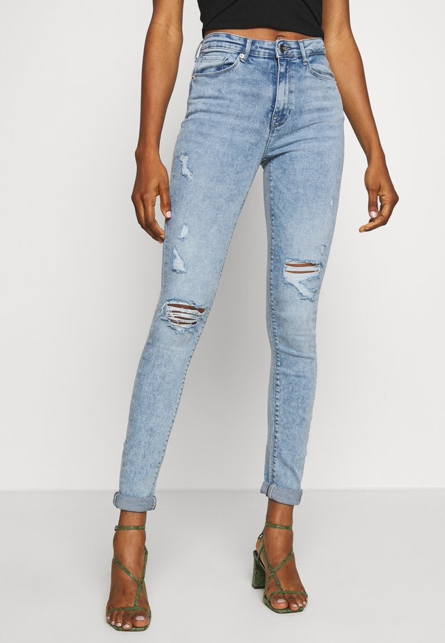 ONLPAOLA DESTROY  - Jeansy Skinny Fit - light blue denim
