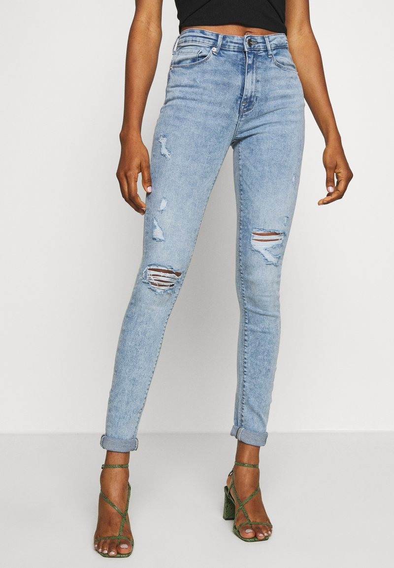 ONLY - ONLPAOLA DESTROY  - Jeans Skinny Fit - light blue denim