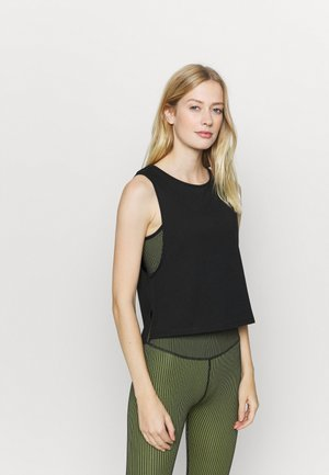 CROPPED TANK - Toppi - black