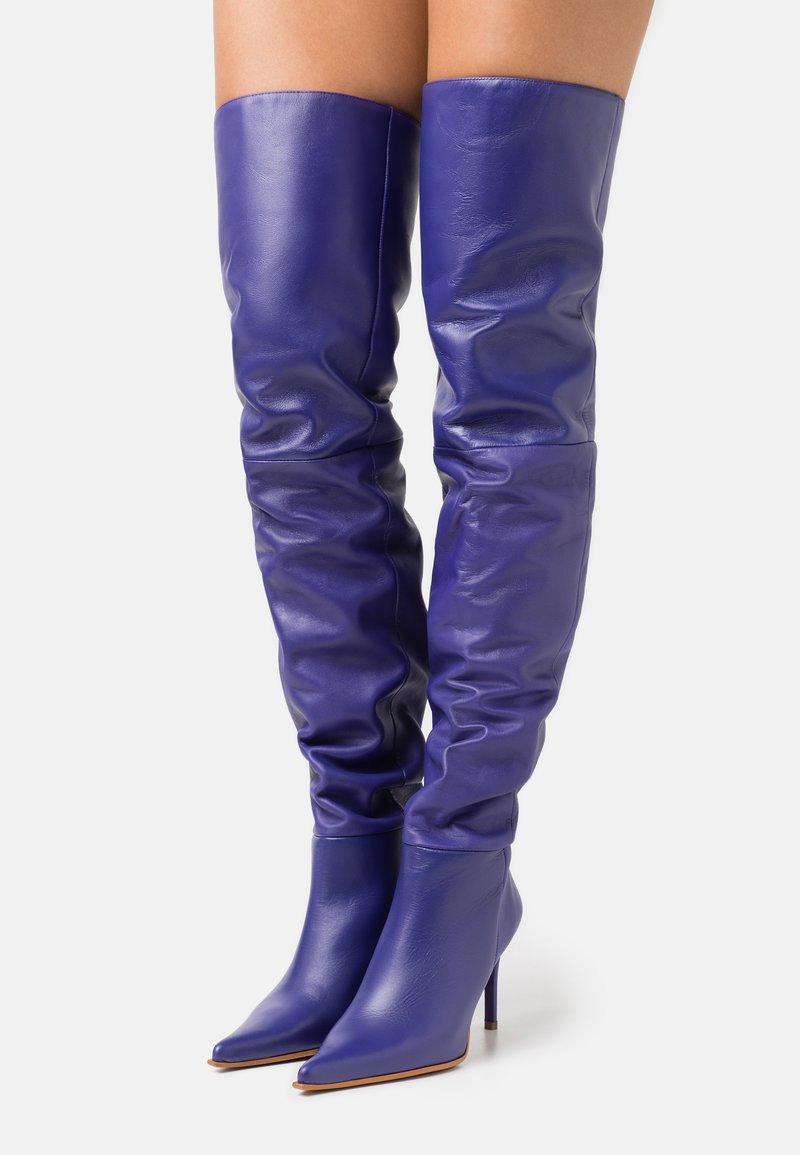 Topshop - TIA THIGH POINT BOOT - Kozačky nad kolena - purple