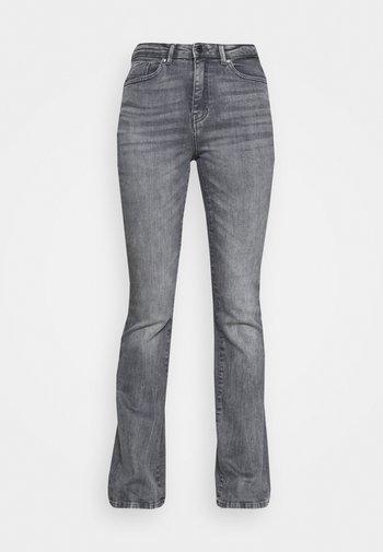 ONLPAOLA LIFE FLARE - Široké džíny - medium grey denim