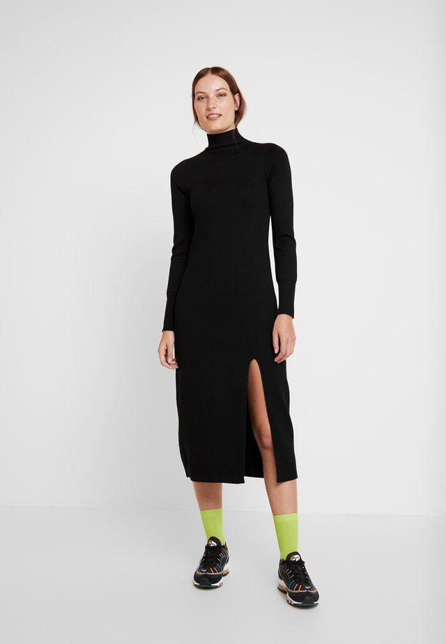 QUINN DRESS - Neulemekko - black