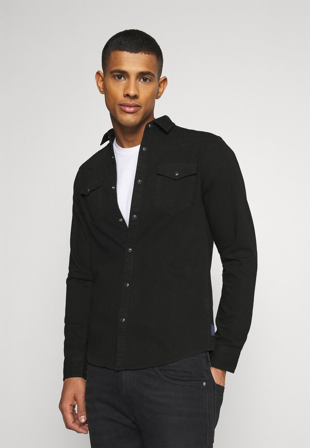 CLASSIC WESTERN IN SEASONAL WASHES - Camisa - black denim