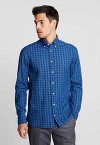 Tommy Hilfiger - SLIM FIT INDIGO TONAL CHECK - Shirt - blue - 0