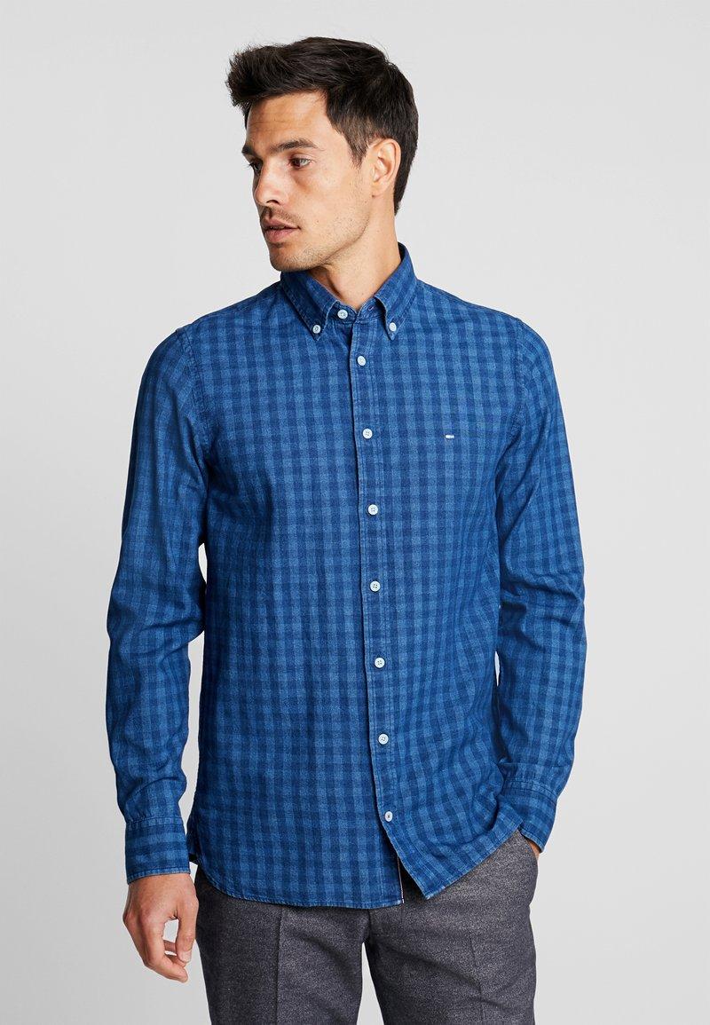 Tommy Hilfiger - SLIM FIT INDIGO TONAL CHECK - Shirt - blue