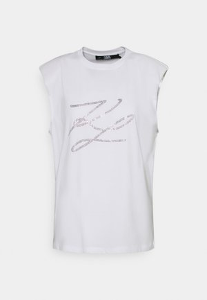 SHOULDER PAD LOGO TANK - Print T-shirt - white