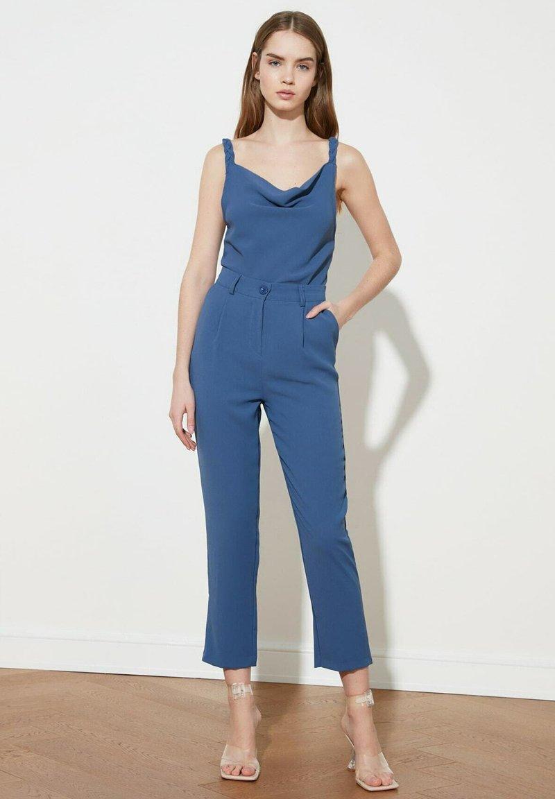 Trendyol - Trousers - blue