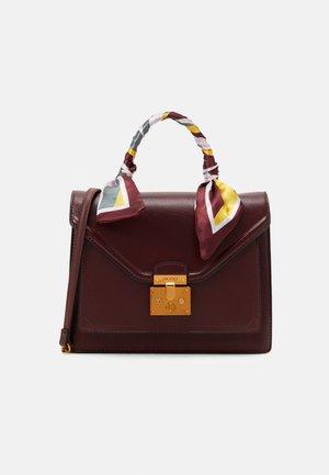 KELLA - Handbag - bordo with chocolate