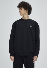 PULL&BEAR - Sweatshirt - mottled dark grey - 0