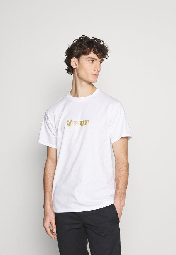 HUF PLAYBOY CLASSIC TEE - T-shirt z nadrukiem - white/biały Odzież Męska ZJMS