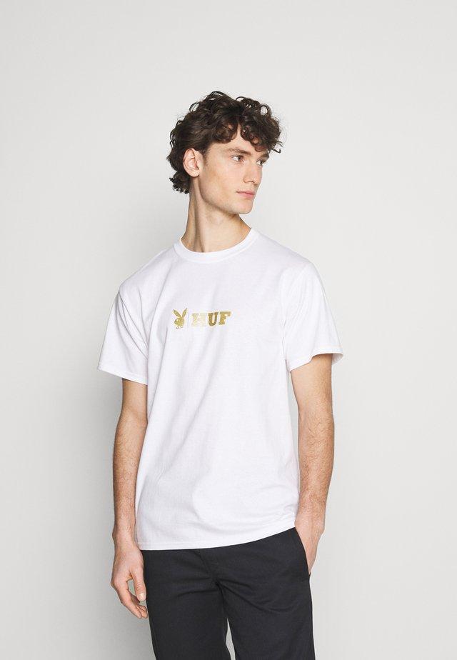 PLAYBOY CLASSIC TEE - T-shirts med print - white