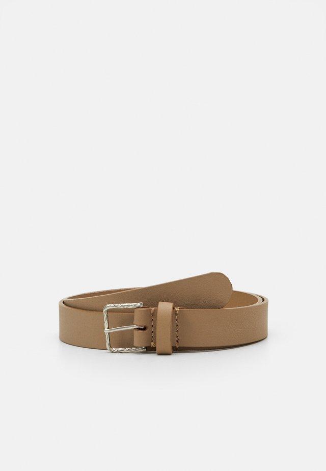 LEATHER - Belte - beige