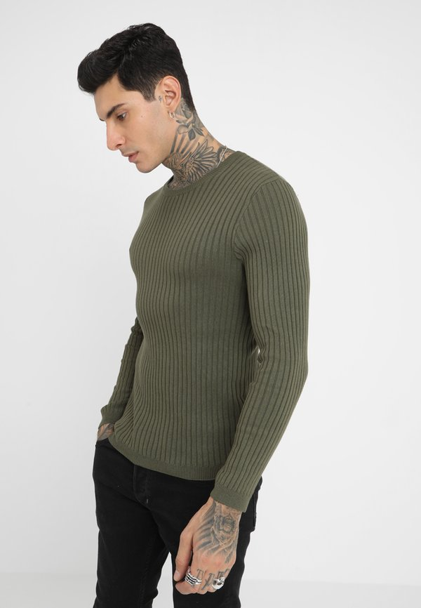 Pier One Sweter - oliv/oliwkowy Odzież Męska PLOB