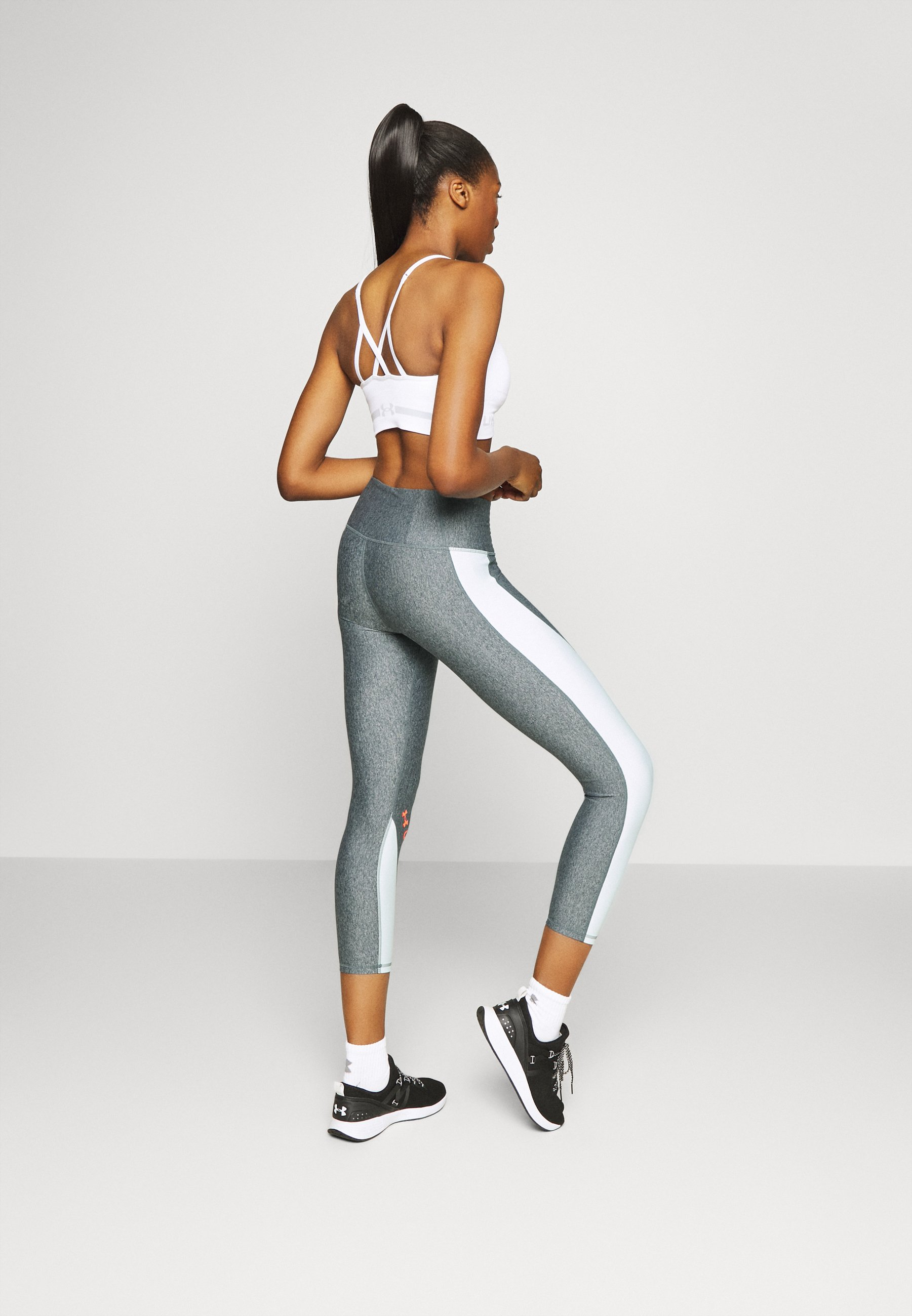 Under Armour ANKLE CROP - Leggings - charcoal light heather 814Ww